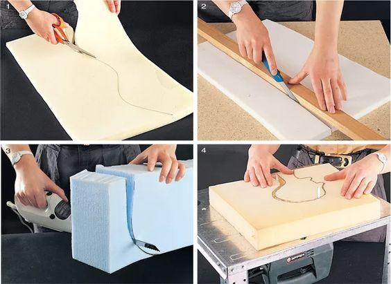 Come tagliare la gommapiuma: tecniche e procedure
